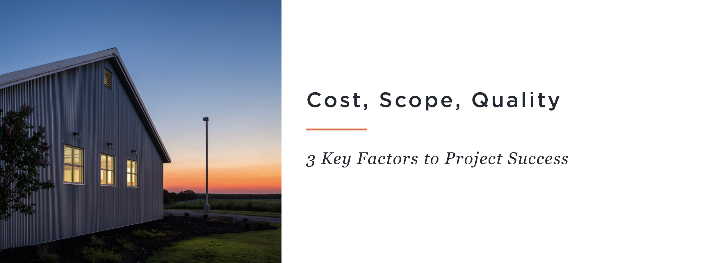Cost, Scope, Quality: 3 Key Factors to Project Success